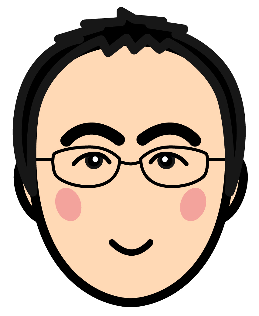 丹澤義一先生顔イラスト